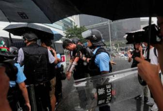 Image result for Roads seized as Hong Kong braces for rally on handover anniversary