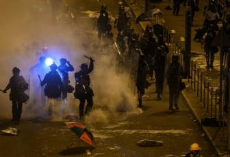 Image result for Hong Kong leader condemns 'extremely violent' protests