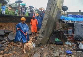 Image result for Collapsed wall kills 22 in Mumbai monsoon chaos