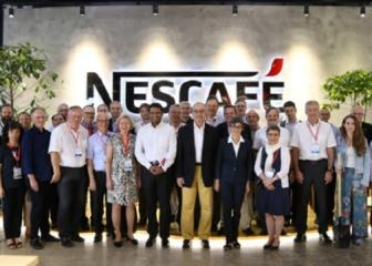 Guy Parmelin, head of the Swiss Federal Department of Economic Affairs, Education and Research in his visit to Nestlé Vietnam.
