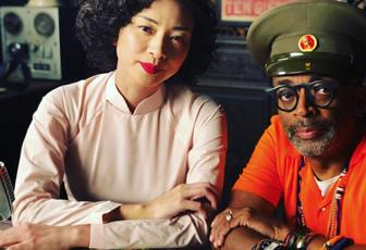 Ngo Thanh Van (L) and Spike Lee on set. Photo courtesy of Spike Lee.