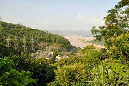 Panoramic view of Da River Hydropower Plant