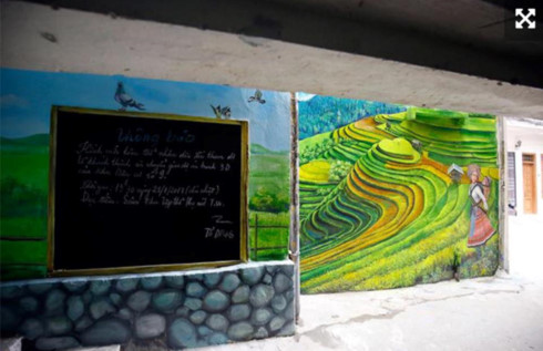 Murals change life in Hanoi's residential areas, entertainment events, entertainment news, entertainment activities, what's on, Vietnam culture, Vietnam tradition, vn news, Vietnam beauty, news Vietnam, Vietnam news, Vietnam net news, vietnamnet news, vie
