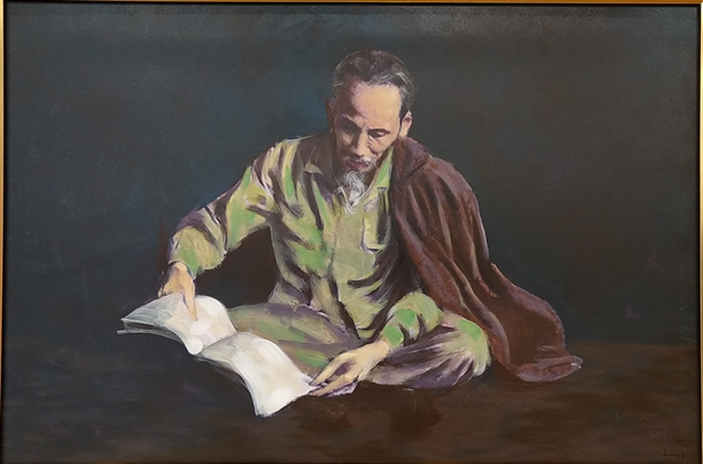 Painting exhibition shows respect to Uncle Hồ