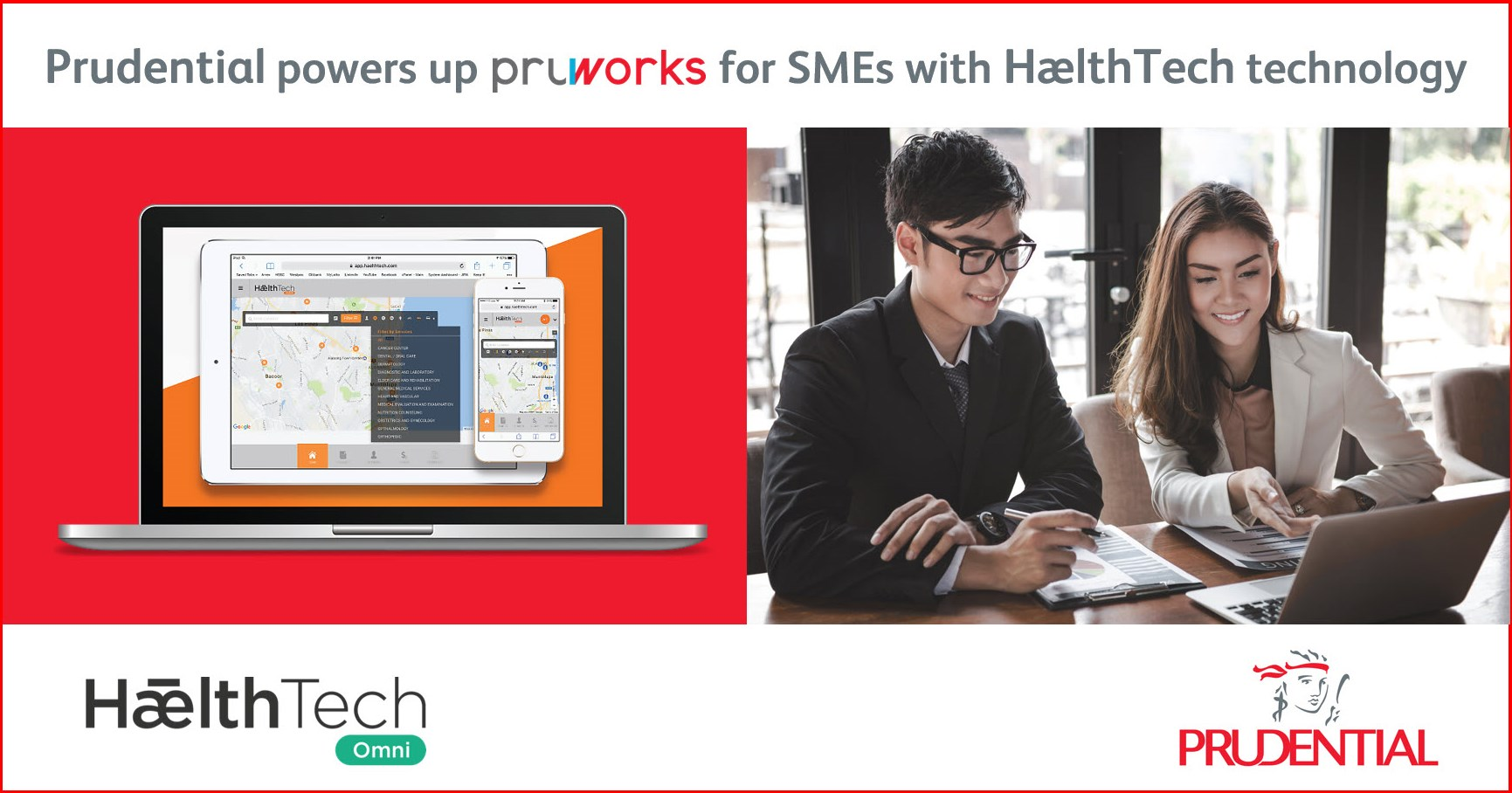 Kết quả hình ảnh cho Prudential powers up PRUWorks for SMEs with HælthTech technology